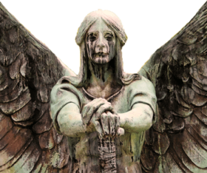 The Haserot Angel – Frightening Bronze Sculpture