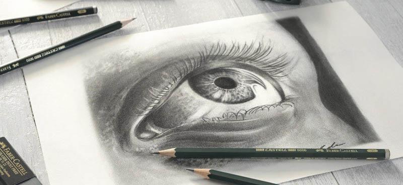 learn drawing an eye